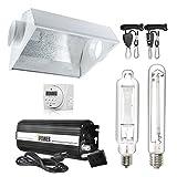 iPower 600 Watt HPS MH Digital Dimmable Grow Light System Kits Air Cooled Reflector Hood Set, GLSETX600DHMACDIGIT