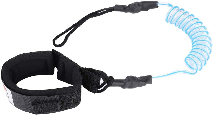 Zetiling Surfboard Leg Leash,Stand Up Paddle Board 5mm Coiled Spring Leg Foot Rope Surfing Leash for Surfboard