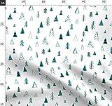 grün, Wald, Wald, Bäume, Winter, Schnee, Urlaub,