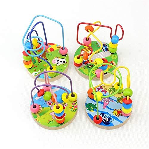 Laberinto Multifunción Laberinto de la montaña rusa de madera Actividad cuentas del ábaco educativos Cube Círculo regalo de los juguetes del juego de colores Actividad Actividad de Madera Cube Toy
