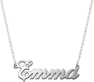Name Necklaces - Personalized Engraved Names Pendant Jewelry Sterling Silver 925 & Gold Plating