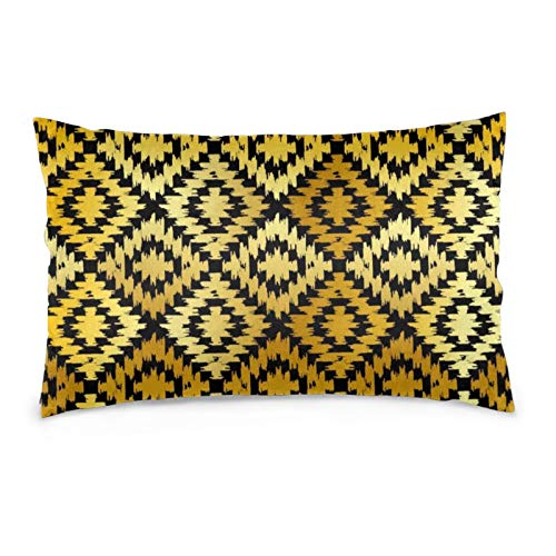 iksrgfvb Pillowcases 16X24inch Turkish Carpet Gold Black. Patchwork Mosaic Throw Pillow Covers Sofa Car Cushion Cover Home Decorative 40X60CM