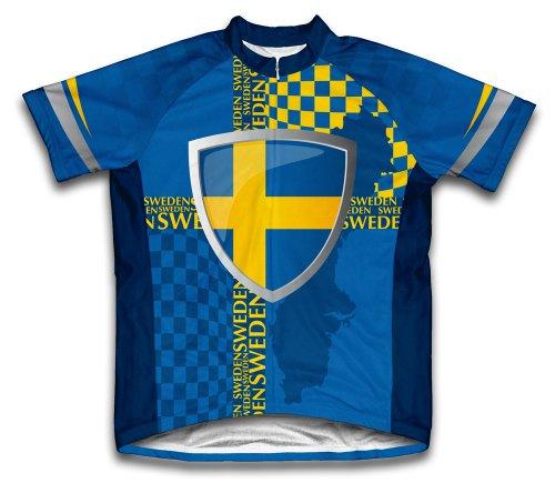 ScudoPro Sweden Maillot Cycliste à Manches Courtes pour Hommes -