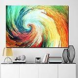 XCSMWJA Leinwand Gemälde Moderne Abstrakte Der Tsunami Whirlpool Wandkunst Poster Und Drucke Bilder Wohnkultur Für Wohnzimmer Kein Rahmen 40 * 60Cm