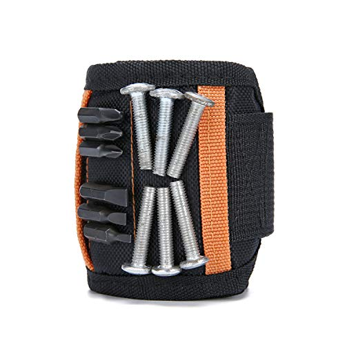 Spartan Magnet-Armband für das Handgelenk, Magnet-Werkzeughalter für Schrauben, Nägel, Bohrer, einzigartiges Werkzeug Geschenk für Heimwerker, Vater/Vater, Ehemann, Freund, Männer, Frauen