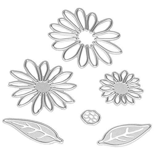 Sunflower Metal Cutting Dies Stencil Template Molds, Embossing Tool Die Cuts for Card Making Album Paper Scrapbooking DIY Décor Dies Craft