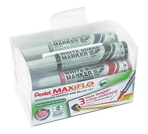 multi purpose pentel marker set Pentel Maxi Flor Liquid Ink Dry Wipe Marker Eraser Set