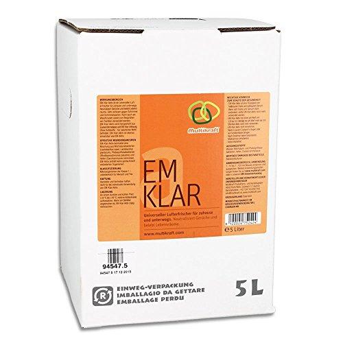 EM-KLAR-AKTIV 5 Liter Bag/Box - Universeller Lufterfrischer für zuhause und unterwegs