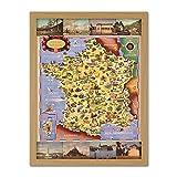 Batany 1947 Pictorial Map France Railway Tourism Large Framed Art Print Poster Wall Decor 18x24 in Carte Chemin de Fer Tourisme Affiche Mur Déco
