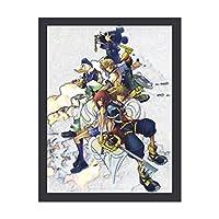 アートフレーム キングダムハーツ アートパネル 木製額縁 ポスター 飾り絵 フォトフレーム インテリア 壁掛け 壁アート インテリアパネル インテリア絵画 モダンアート 壁ポスター モダン 30*40 横 縦 プレゼント