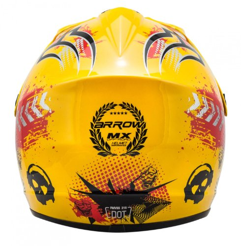 "ARMOR · AKC-49 ""Yellow"" (Gelb) · Kinder-Cross Helm · Enduro Kinder Off-Road Sport Motorrad Moto-Cross · DOT certified · Click-n-Secure™ Clip · Tragetasche · S (53-54cm) - 6"