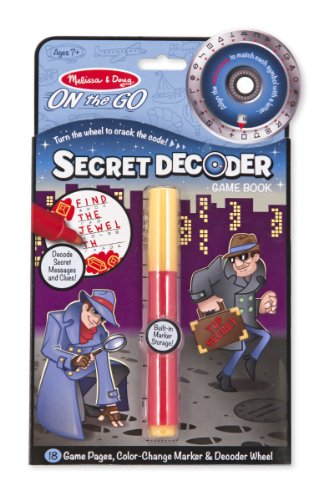 Melissa & Doug- On The Go: Secret Decoder Juego de Dibujo, Multicolor (15248)