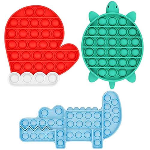 Xpassion Sensorial Fidget Juguete Push 3Pack Pop It Juguete Antiestrés Juego Burbujas Autismo Ansiedad Fidget Toy Niños Necesidades Especiales Relajante Adultos Divertido Bubble Game