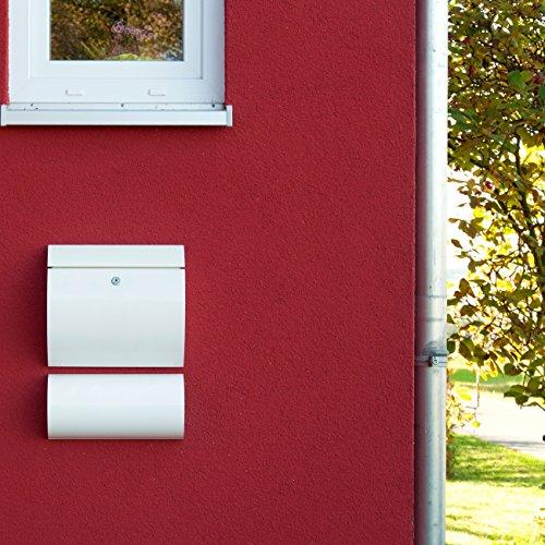 Max Knobloch Briefkasten Honolulu weiß (RAL 9010) 10 Liter Wandbriefkasten - 2
