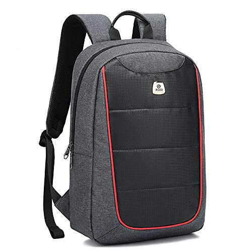 Backpack Fashion Men's Business Casual Backpack Junior and Senior High School Bags Travel Computer Bag Computer Backpack (Color : Grey)