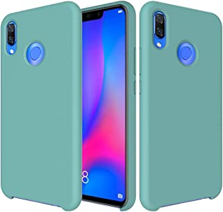 XIANGBAO-Personality case Premium Extremist Slim Shockproof Liquid Silicone Soft Rubber Easy Protective Case for Huawei Nova 3 (Color : Light Blue)