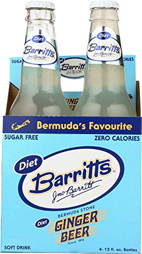 Barritts Soda 4pk Diet Ginger Beer