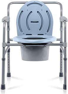 リビング機器便器チェアトイレチェアシニアポータブルAfetyフレームハンドルとバケツの高さ調節可能なバスルームサポート付き