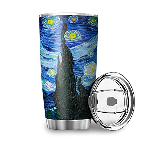 ATag-Leggings Starry Night - Stainless Steel Water Bottle Tumbler Great for Ice Drink and Hot Beverage White 30oz