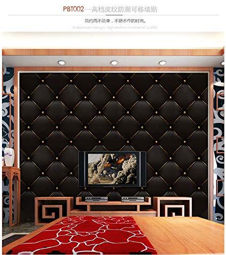 KLMWDDBT Modern Minimalistische Woonkamer Tv Achtergrond Behang Zelfklevende PVC Simulatie Lederen Zachte Zak Bank Achtergrond Muursticker 40 * 300cm Pw-002