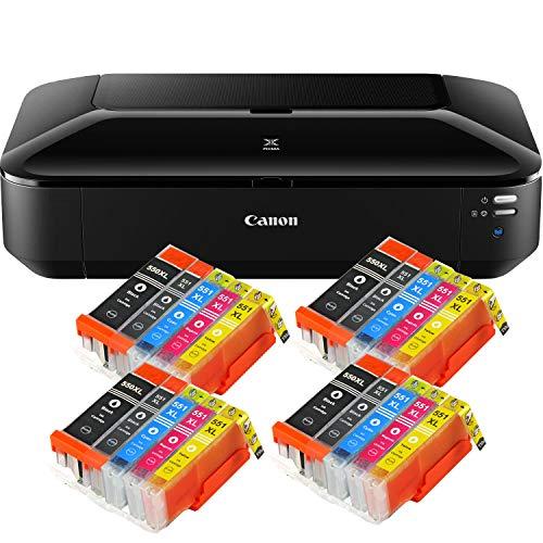 Canon PIXMA iX6850 Drucker Farbtintenstrahl Drucker DIN A3+ (Bürodrucker, Fotodruck, Textdruck, 9.600 x 2.400 DPI, WiFi, WLAN, USB, Direktdruck, Print App) schwarz + 20 kompatiblen XL Patronen