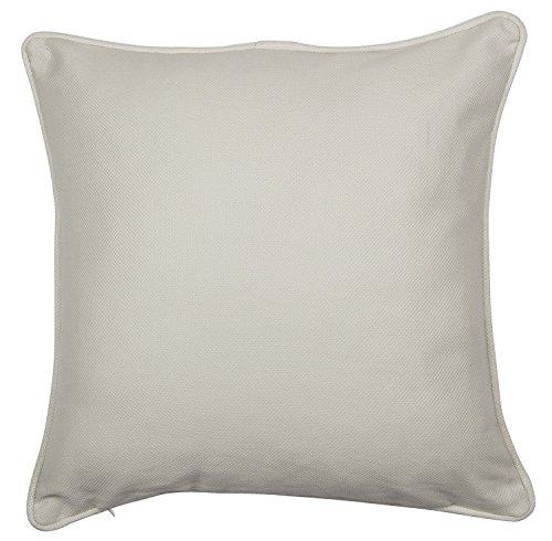 Adams Linens 100% Cotton dobby Plain dyed Cushion Covers, 20'x20' Cream