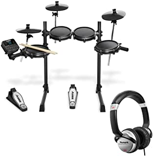 Alesis Turbo Mesh 7 Piece Electronic Drum Kit With a Pair of Drum Sticks + Headphones + 3.5 mm Interconnect Cable, 10 feet...