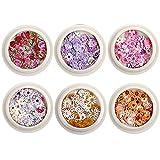 Zonster 6 Caja De Uñas Real Pétalos Hojas Secas Decoración De Uñas De Arte De Diseño Mini Apliques De Uñas De Arte Decoración Uñas Set De Adhesivos