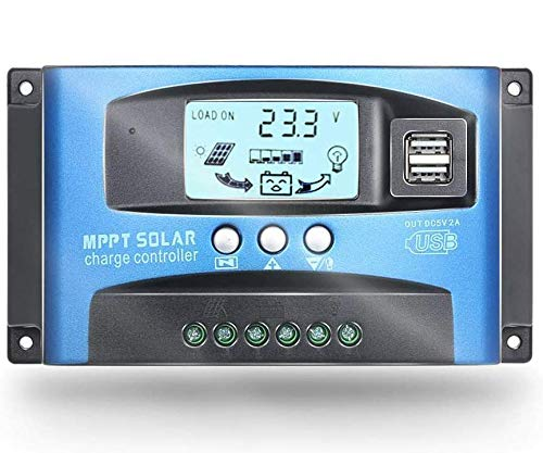 Controlador de carga solar automático de 60 A MPPT con doble USB de salida de 5 V 12/24 V panel solar de carga del regulador de la batería