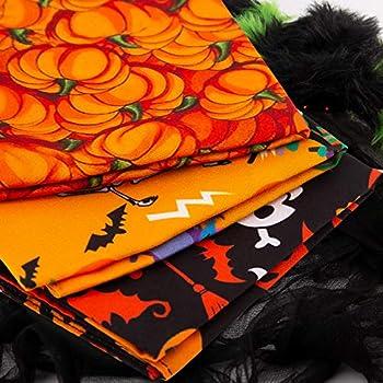 LUTER 3 Pièces Halloween Chien Bandana, Pet Bandana Chien Foulard avec Motif Citrouille, Coton Triangle Bavoirs écharpes pour Chiot, Chien et Chat