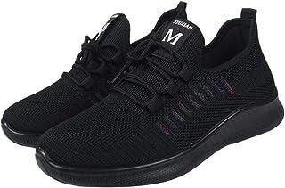 Happyyami Respirez Chaussures de Marche en Maille Femmes Baskets de Course Mocassins Coussin Dair Maille Chaussures de Jog...