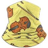 Linger In Violín de Madera o Cuello de violín Calentador de Cuello Polaina Pañuelo Deportivo