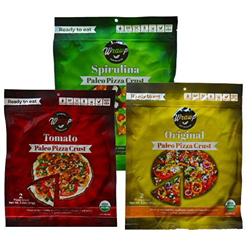 Paleo Pizza Crust | Flavored Organic Gluten Free, Dairy Free, Soy Free, Nut Free and Vegan Pizza Crust (Variety Pack, 3 Pack)