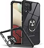 KP TECHNOLOGY Galaxy A12 Case, Clear Ring Holder Military