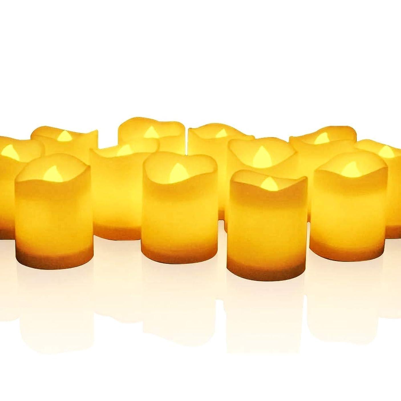 密輸数値ホームmidafon 24個ちらつきTealight Candles電池式Lasts Over 100時間