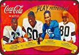 50er african-american Fußball-Sterne, Vintage, Reproduktion, Metall, Dose mit 12x 18cm