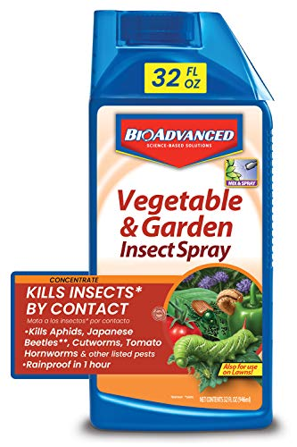 BIOADVANCED 701521A 687073015218 Bayer Advanced 701521 Vegetable and Garden Insect Spray Concentrate, 3, 32-Ounce, Plum