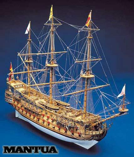 Panart San Felipe 1690 - Cuenco español en kit de madera a escala 1:75 960 mm Mantua modelo Made in Italy
