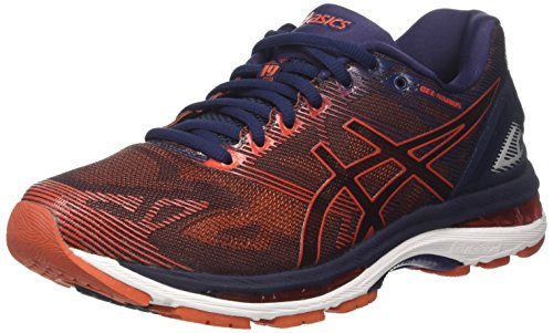 Asics Gel Nimbus 19, Zapatillas de Running Hombre, Azul (Peacoat/Red Clay/Peacoat), 42...
