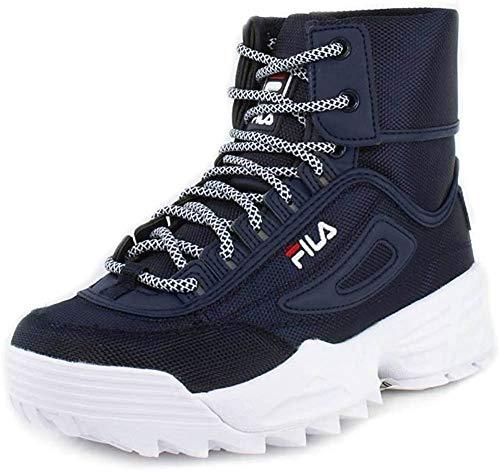 Fila Women's Disruptor Ballistic Sneakers Navy/Red/White 5