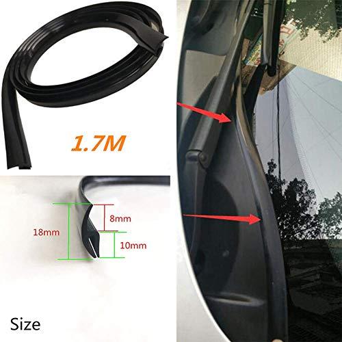 EPRHY Universal Auto Auto Windschutzscheibe Fenster Dichtung Zierleiste Gummi Leiste 1,7 m – Schwarz
