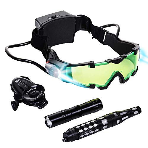 Spy Set for Kids - Kids Spy Gadgets Kit - Night Vision Goggles, Invisible Pen, Flashlight, Micro Listener - Surveillance Toys