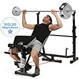 OppsDecor Strength Training Olympic Weight Benches for Full Body Workout - Adjustable Olympic Weight for Indoor Exercise(US Stock) (Green)