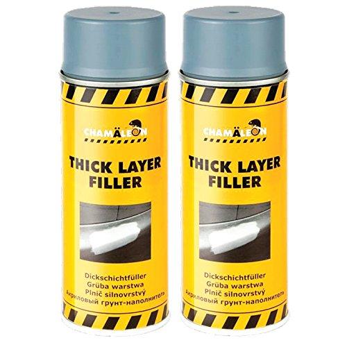 Chamäleon 1K Lot de 2 flacons de Spray de 400 ML Gris