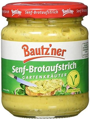 BAUTZ'NER Senf Brotaufstrich Gartenkräuter, 200 ml
