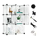 Greenstell Cube Storage Organizer, 6-Cube Closet Organizer with Doors, DIY Plastic Storage Cubes Organizer, Modular Storage Cabinet Book Shelf Shelving for Bedroom, Living Room, Office White