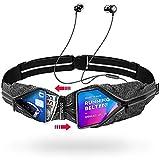Akalas Cinturón de Running, tamaño de Bolsillo Ajustable, Resistente al Agua, Cintura Reflectante 360º, Adaptable a la Gran mayoría de Smartphones, para el Gimnasio, y para Actividades al Aire Libre
