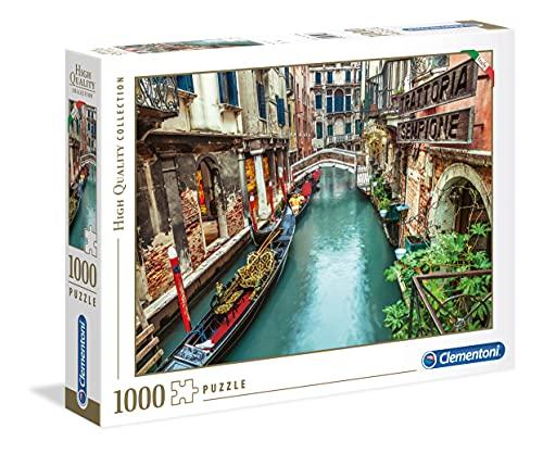Clementoni Collection-Venice Canal Puzzle, 1000 Pezzi, Multicolore, 39458