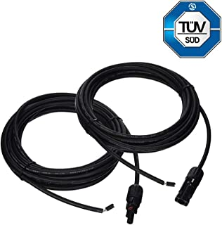 Renogy 20Ft 12 AWG Solar Panel and Controller Connector Adaptor Wire MC4 Extension Cables