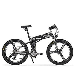 RICH BIT RT-860 36V 250W 12,8 Ah klappbares Elektrofahrrad Vollgefedertes City Bike Elek